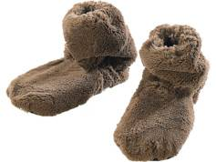 Infactory Pantoufles chauffantes à graines de lin - Montantes - 42/44