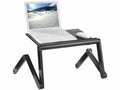 General Office Station de travail en aluminium pour PC portable& tablette