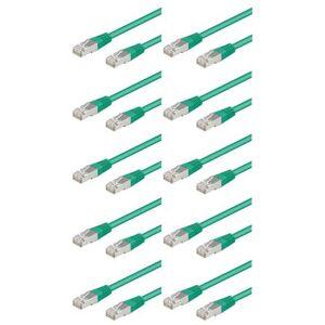 Pearl 10 câbles RJ45 vert cat5e F/UTP - 3m