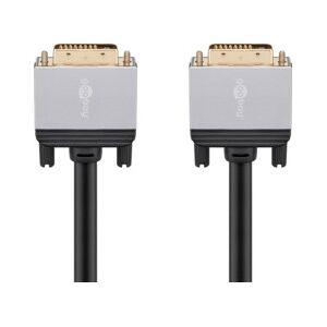 Goobay Câble DVI-D mâle-mâle doré compatible 4K - 5 m