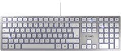 Cherry Clavier USB ultra-plat KC 6000 Slim - Argent