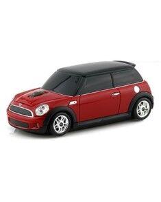 Landmice Souris sans fil voiture Mini Cooper Rouge