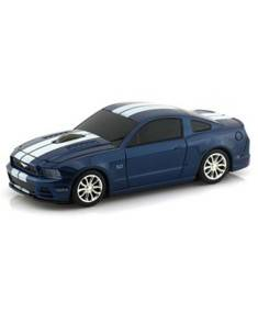 Landmice Souris sans fil voiture Ford Mustang GT Bleu