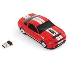 Landmice Souris sans fil voiture Ford Mustang GT - Rouge