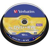 Verbatim DVD+RW Verbatim Spindle 4,7 Go (x10)