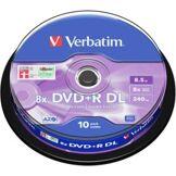 Verbatim DVD+R Verbatim Double couche 8,5 Go (x10)