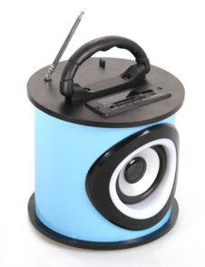 Teknofun Enceinte Bluetooth cylindrique Teknofun - Bleu
