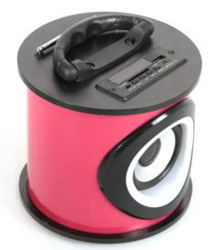 Teknofun Enceinte Bluetooth cylindrique Teknofun - Rose