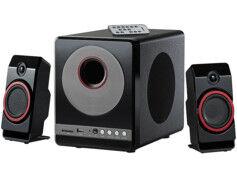 Auvisio Haut-parleurs premium 2.1 ''MSX-380.M'' avec lecteur MP3