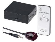 Auvisio Répartiteur audio digital télécommandé pour signaux optiques TOSLINK™