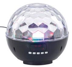 Auvisio Boule disco mobile avec bluetooth, haut-parleur et lecteur MP3 intégrés