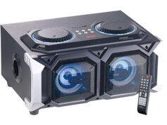 Auvisio Enceinte stéréo 2 en 1 USB / SD / bluetooth 100 W à fonction karaoké PMA-1000.k