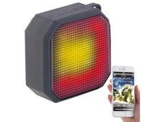 Auvisio Haut-parleur MP3 actif 6 W sanf fil à effets lumineux LSS-236