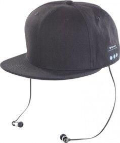 Callstel Casquette Snapback avec casque Bluetooth - Noir
