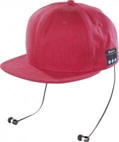 Callstel Casquette Snapback avec casque Bluetooth - Rouge