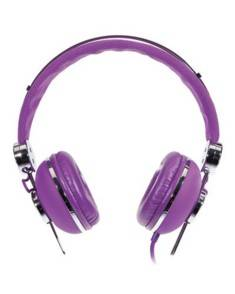 Casque audio micro ''On-Ear'' violet