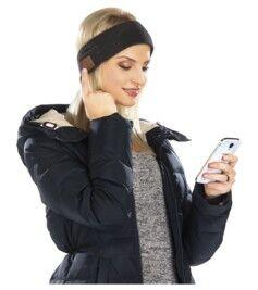 Callstel Bandeau avec bluetooth et fonction mains-libres - Noir