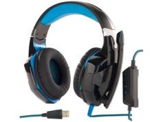 Mod It Micro-casque lumineux USB spécial Gaming GHS-400.LED - son Surround 7.1