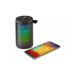Auvisio Haut-parleur bluetooth & lecteur MP3 lumineux LSS-213 - Publicité