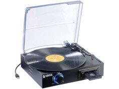 Q-Sonic Tourne-disque et lecteur de K7 USB avec encodeur MP3 ''UPM-700''