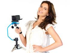 Somikon Stabilisateur de prises de vue pour caméra + trépied