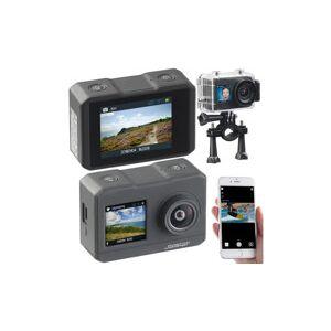 Somikon Caméra sport 4K étanche avec 2 écrans, wifi, capteur Sony et fonction Webcam
