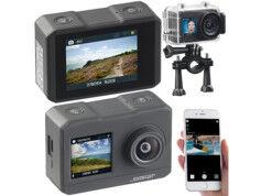 Somikon Caméra sport 4K DV-3817 étanche avec 2 écrans, wifi et capteur Sony