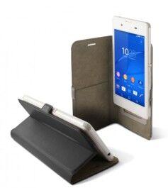 KSix Étui universel folio pour smartphone avec slide - jusqu'à 5'' - Noir