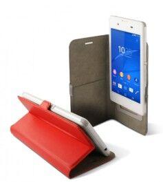 KSix Étui universel folio pour smartphone avec slide - jusqu'à 5,5'' - Rouge