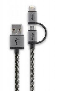 Cabstone Câble Micro USB tressé Cabstone avec adaptateur Lightning - 1 m
