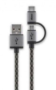 Cabstone Câble Micro USB tressé Cabstone avec adaptateur USB C - 1 m