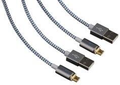 Bluestork Lot de 2 câbles Micro USB à embout magnétique 1,2m