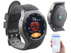 Newgen Medicals Montre-téléphone GPS avec fonctions bluetooth et cardiofréquencemètre PW-500.gps