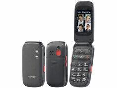 Simvalley Mobile Téléphone mobile à clapet avec appel d'urgence et amplification auditive XL-948