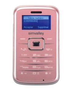 Simvalley Mobile Téléphone miniature ''Pico Inox RX-180'' rose