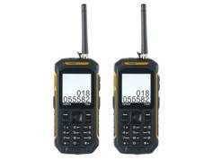 Simvalley Mobile 2 téléphones portables outdoor Dual SIM avec fonction talkie-walkie