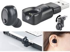 Auvisio Oreillette intra-auriculaire One-Touch IHS-141.bt avec bluetooth 4.1