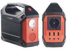 Revolt Batterie nomade 42 Ah & Convertisseur solaire avec prises 230 V / 12 V / USB
