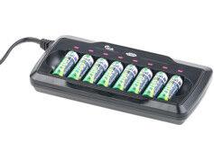 TKA Chargeur pour 8 accus AA/AAA avec minuteur de sécurité - avec Refresh