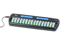 TKA Chargeur pour 16 accus AA/AAA avec minuteur de sécurité - avec Refresh & écran