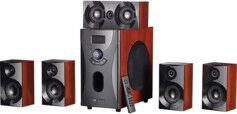 Auvisio Système audio home cinema Surround 5.1 avec radio / MP3 - Style Bois