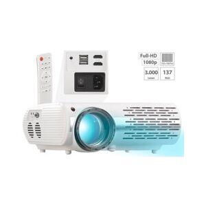 SceneLights Projecteur vidéo LCD/LED Full HD 3000lm avec lecteur multimédia - Publicité