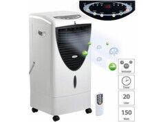 Sichler Haushaltsgeräte Rafraîchisseur d'air à évaporation 150W / 20L avec fonctions oscillation et ioniseur LW-530