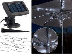 Luminea Guirlande solaire à LED pour parasol à 8 brins / 72 LED