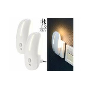 Lunartec 2 veilleuses murales à LED avec capteurs de mouvement et de luminosité - Publicité