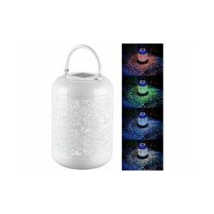 Lunartec Lanterne solaire décorative RVBB avec boîtier en métal - Publicité