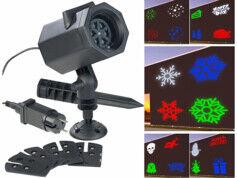 Lunartec Projecteur LED RVBB 4,6 W indoor/outdoor 5 motifs lumineux