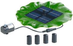 Royal Gardineer Fontaine de bassin flottante solaire avec pompe et 4 buses