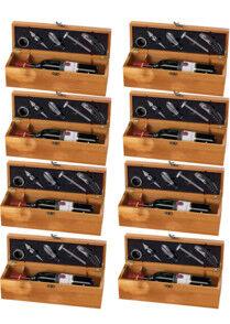 Carlo Milano 8 coffrets à bouteille en bambou