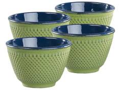 Rosenstein & Söhne Set de 4 tasses à thé style Arare - Vert